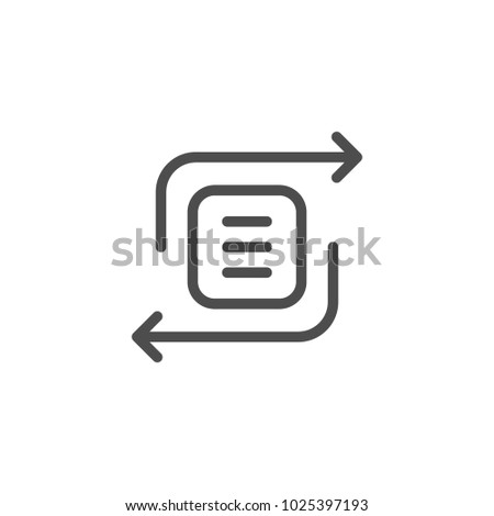 Exchange line icon isolated on white