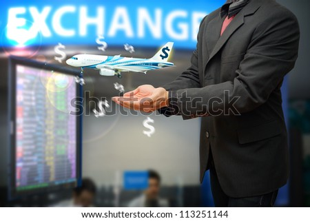 Exchange money by the business man