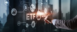 Exchange Traded Fund. Investor concept. ETF. Stock market index fund