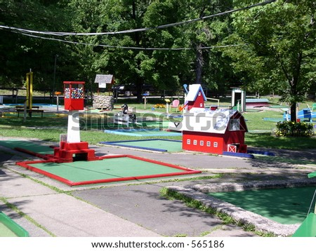 Exciting Mini Golf - stock photo