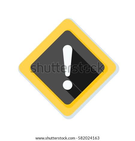 Exclamation Danger sign illustration #582024163