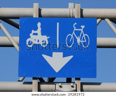 Exclusive Motorcycle and bicycle Lane