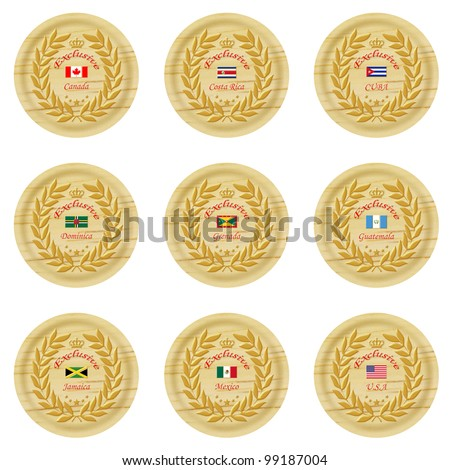 exclusive north america wooden badge collection 1