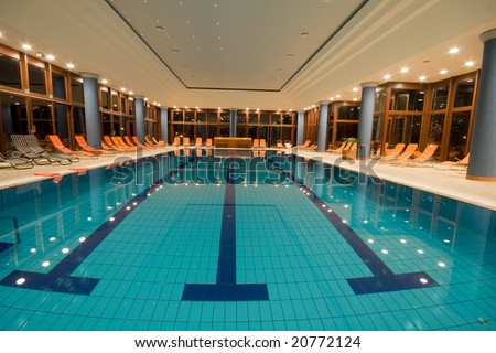 Exclusive swimming pool in a wellness hotel
