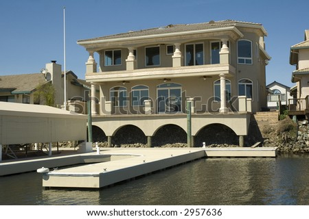 Executive home in a community in Northern California with waterfront access to the delta