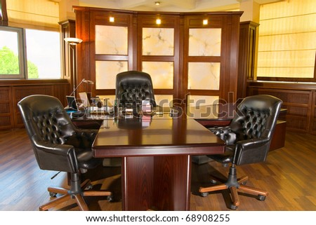 Executive office made in the classic style