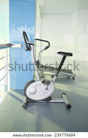 exercise bicycle under the white background  #239779684