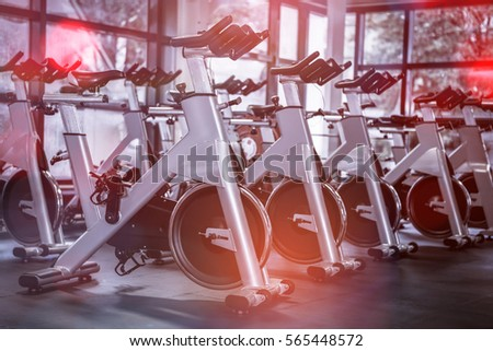 exercise bikes in gym