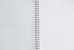 Exercise book for writing spread. blank sheets for text