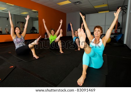 exercise class at a gym