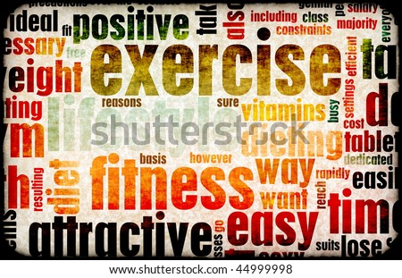 Exercise Fitness Lifestyle as a Background Art - stock photo