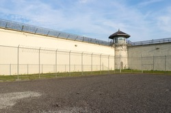 Exercise yard of a decommissioned prison