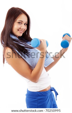 Exercising woman