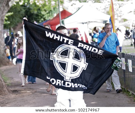 Exeter - June 4: A Man Displaying A White Pride World-Wide ...