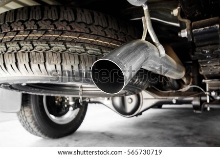 Exhaust pipe of a truck