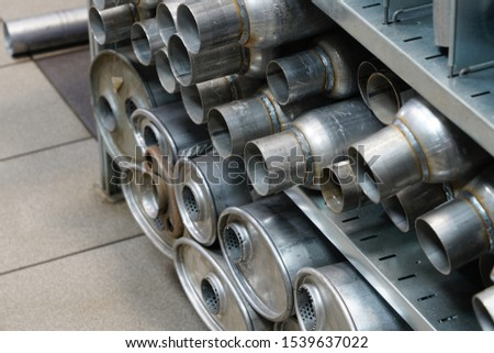 exhaust pipes repair parts in the spare parts store #1539637022