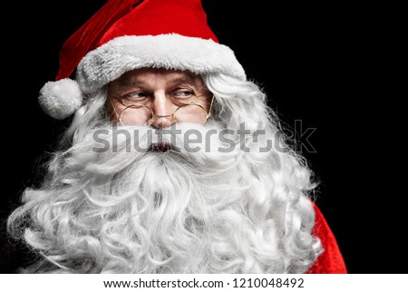 Exhausted and sad santa claus
