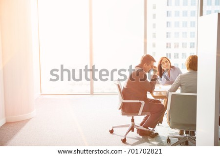 Exhausted businesspeople in meeting #701702821