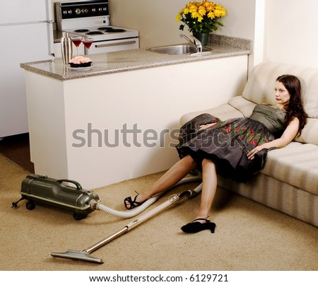 Exhausted Housewife
