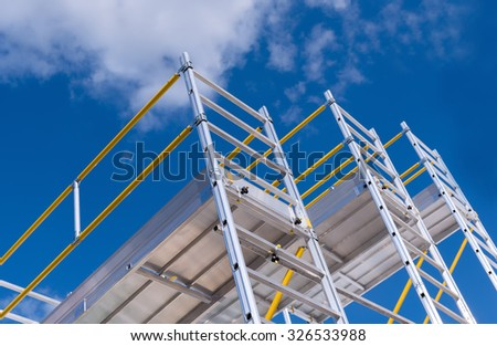 exhibition and sale of scaffolding Сток-фото ©