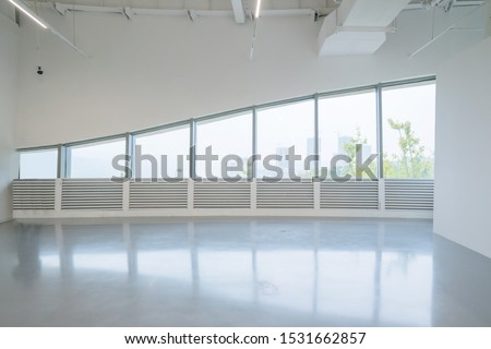 Exhibition hall entrance hall and glass windows #1531662857