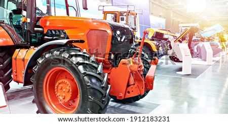 Exhibition of agricultural tractors and machinery Stockfoto ©