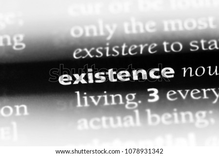 Existence Word In A Dictionary. Existence Concept #1078931342
