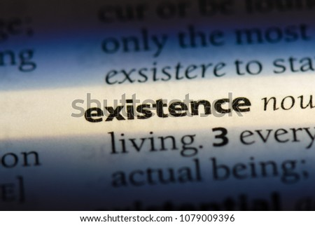 Existence Word In A Dictionary. Existence Concept #1079009396