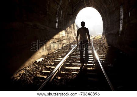 Exit from darknes - Light at end of tunnel #70646896