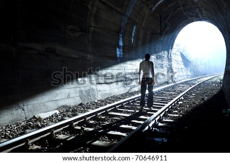 Exit from darknes - Light at end of tunnel #70646911