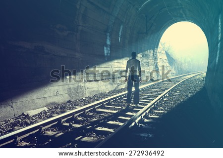 Exit from darkness - Light at end of tunnel