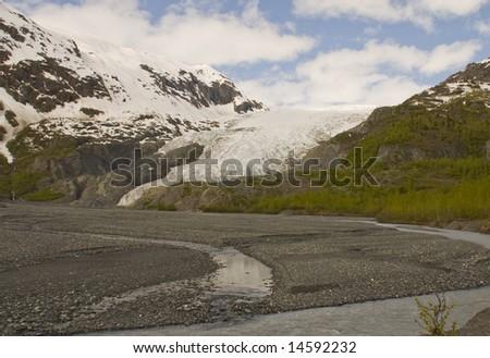 Exit Glacier Seward Alaska Resurrection River - stock photo