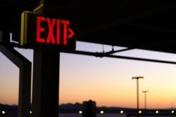 Exit Sign - Parking Garage