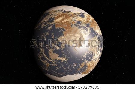 Exoplanet. Fantastic super earth
