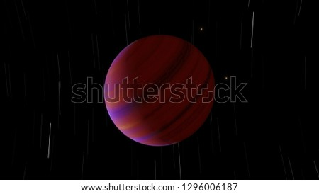 Exoplanet gas giant hot Jupiter or brown dwarf 3D illustration (Elements of this image furnished by NASA)