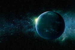 Exoplanet in deep space.Elements of this image were furnished by NASA.