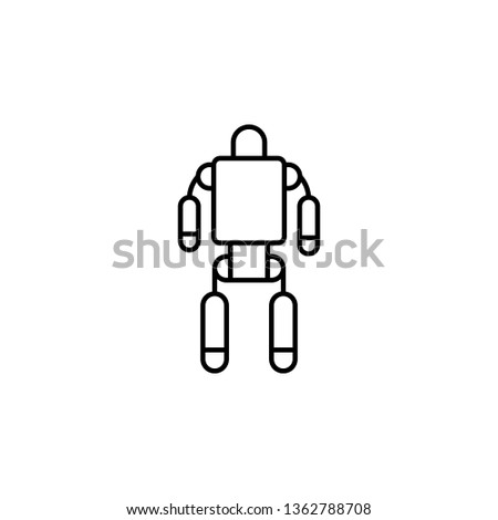 exoskeleton, robot, space icon. Simple thin line, outline illustration of space, cosmos, universe icons for UI and UX, website or mobile application