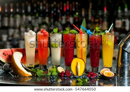 Shutterstock Exotic alcoholic cocktails