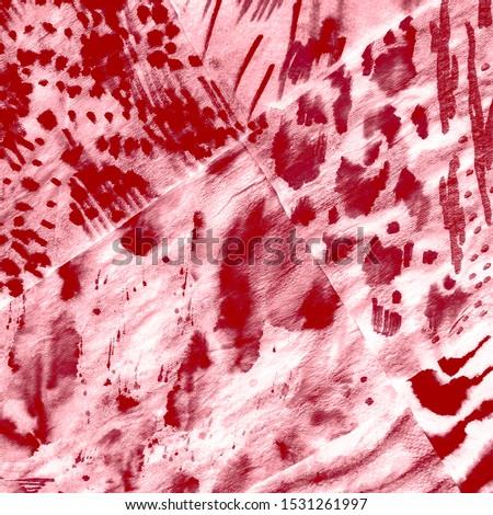 Exotic Animal Print. White Wildlife Art Illustration. Passion Animal Print Tattoo. Bright Vintage Natural Art. Artist Painting Watercolor. Tigers Pattern.