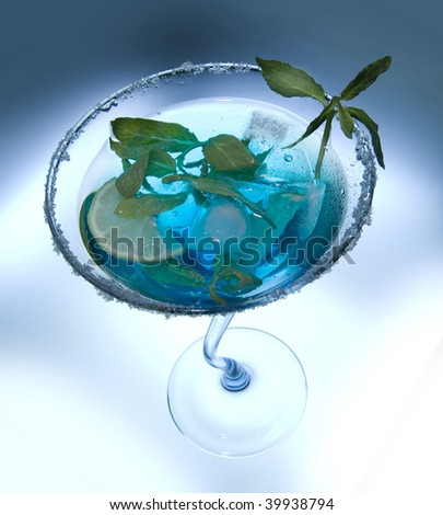 Exotic cocktail closeup