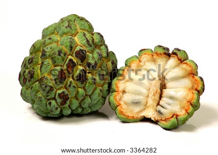 Exotic Fruit isolated in white background (Pine cone)