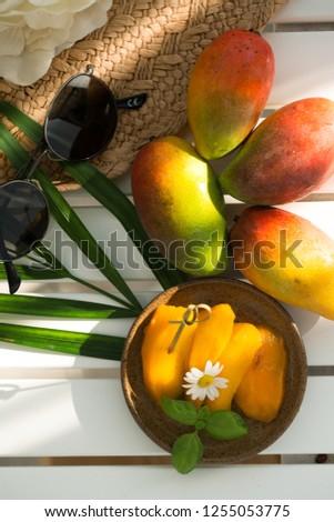 exotic fruit mango Stok fotoğraf ©