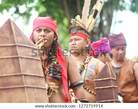 Exotic pictures from the Mahakam Festival. This event was held in Samarinda City, East Kalimantan or East Kalimantan, Indonesia, November 5, 2017. #1272719914