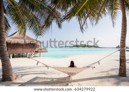 Exotic Tropical Paradise Over Water Bungalow Crystal Clear Turquoise Blue Ocean Sea Water Serene Secluded