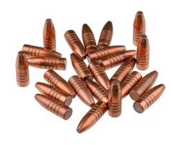 Expansive bullets, with a copper sheath and a lead core, caliber 9 mm, hunting.