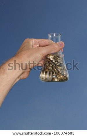 expenses of science and health - stock photo