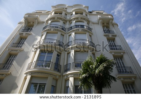 expensive apartment building nice france stock photo 2131895 shutterstock. Black Bedroom Furniture Sets. Home Design Ideas