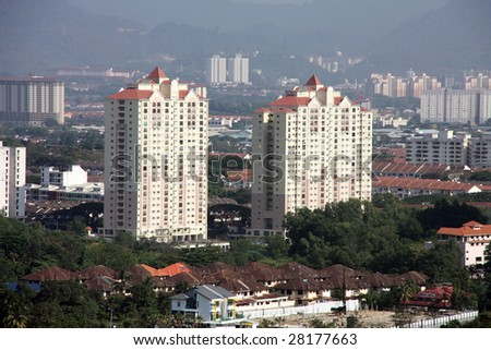 Expensive neighborhood - Mont Kiara in Kuala Lumpur, Malaysia. Popular among and populated mostly by expatriates.
