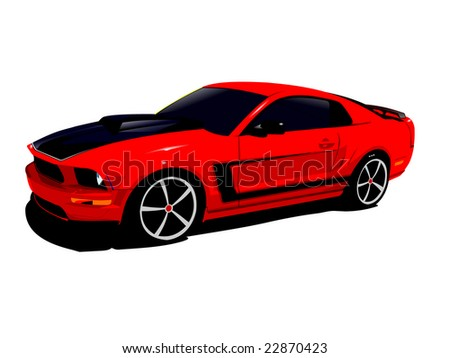 Expensive Red Sports Car Isolated On A White Background ...