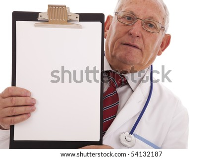 expertise doctor older man isolated on white